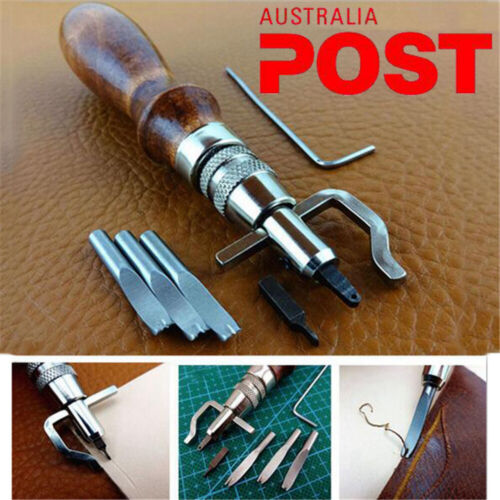 Practical Leathercraft Adjustable Stitching Groover Crease Leather Hand Tool Set