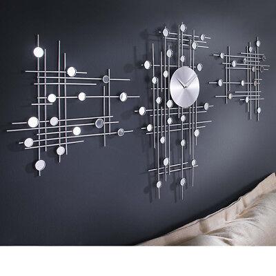 3 teilige Moderne Design Wanduhr Uhr Wohnzimmerwanduhr Küchenuhr Bürouhr Analog