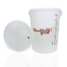 Home Brew Beer Wine Fermenting Vessel Bin Fermentation Bucket & Lid 25 Litre