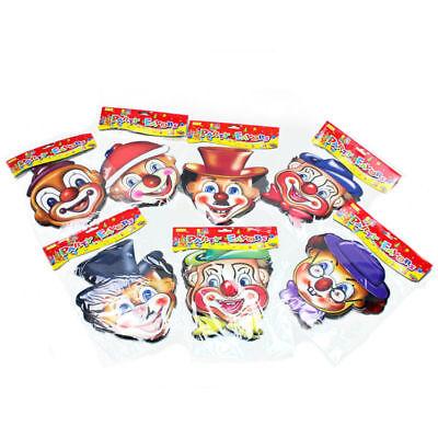 12 Maske Clownmaske Pappe Kinderparty Kindergeburtstag Mitgebsel Tombala