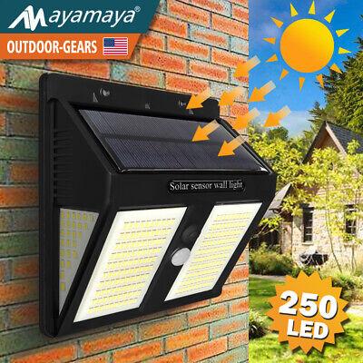 250LED Solar Light Outdoor Motion Sensor Waterproof Security Detector Floodlight