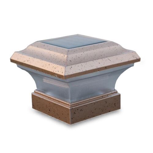 6x Outdoor 4X4 Garden Yard Solar Copper Post Deck Cap Square