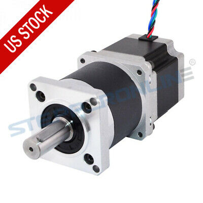 201 High Precision Planetary Gearbox Nema 23 Stepper Motor L56mm 2.8a 4 Wires
