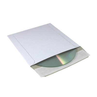 50 Pack 5 X 5 Cd Mailer Envelopes Self Seal Stay Flat Rigid White 350 Gsm