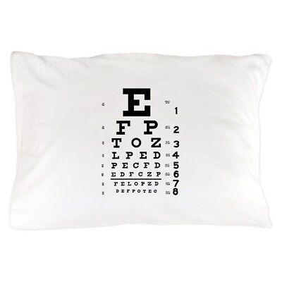 CafePress Eye Chart Gift Standard Size Pillow Case, 20