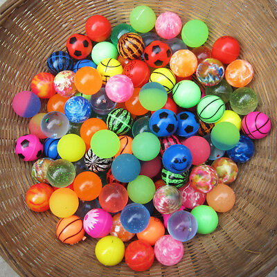 Rubber Bouncing Balls Super Bouncy Elastic Kids Party Toy Gift 10Pcs 27Mm Random