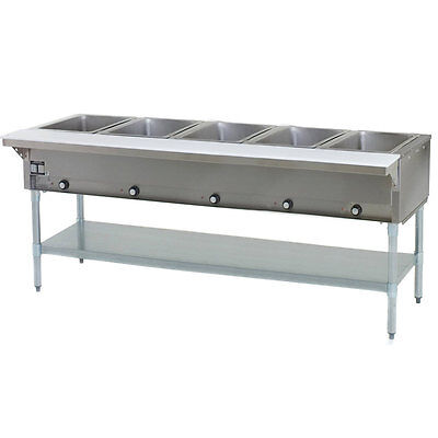 Eagle Group Ht5-ng 79-inch 5-well Gas Steam Table Natural Gas Nsf Cul Kcl