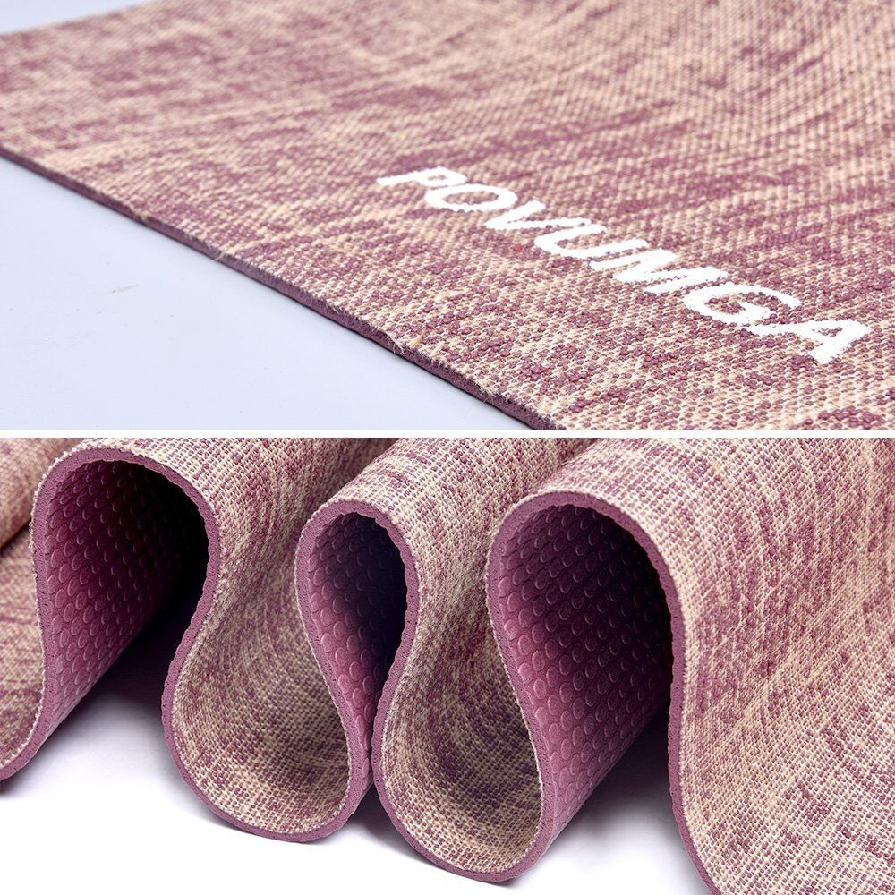 NEW POVUMGA PVC Linen Eco-Friendly Yoga Fitness Exercise