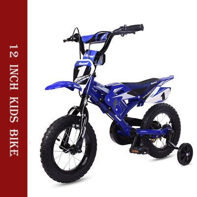 12 inch Kids Bike Bicycle New Boys/Girls Kids/Children Moto With Stabilizer Blue