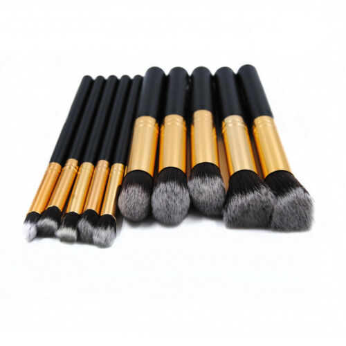 Pro 10pcs Makeup Cosmetic Blush Brush Foundation Eyebrow Pow