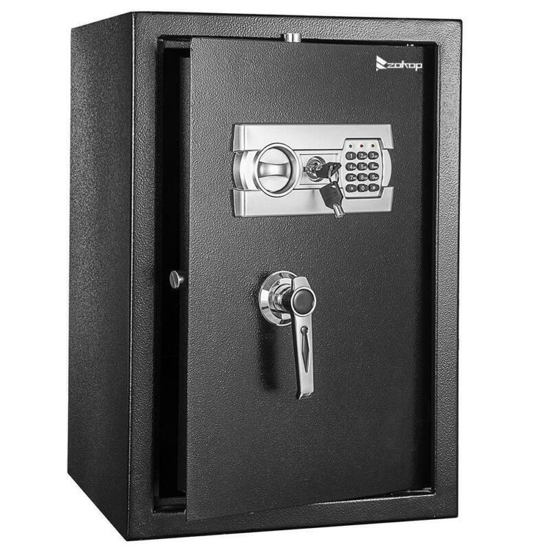 "Zokop Electronic Home Security Depository Safe Box Digital Lock Gun Jewelry 22"""