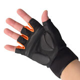 Work Out Gloves Weight Lifting Gym Wrist Wrap Sports Exercise Training Fitness