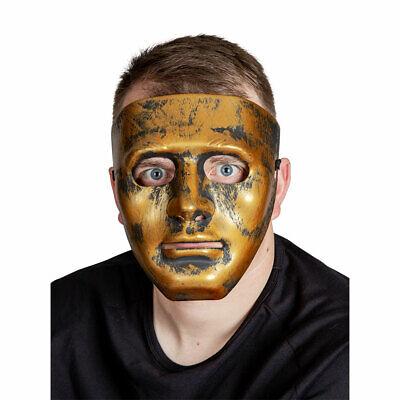 Roboter Maske Antik Gold Erwachsene Kostüm Zubehör Herren - Roboter Kostüme Erwachsene