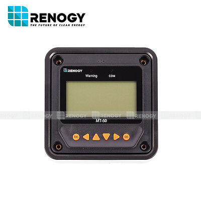 Renogy MT-50  Remote Meter For MPPT Charge Controller w/ LCD Display