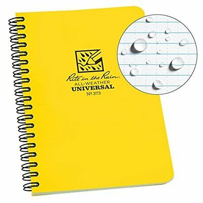 Rite In The Rain All-weather Side-spiral Notebook 4 58 X 7 Yellow Cover