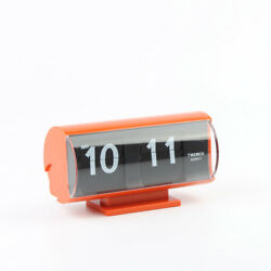 Twemco Retro Modern Flip Clock QT30T Orange German Movement Made in HK