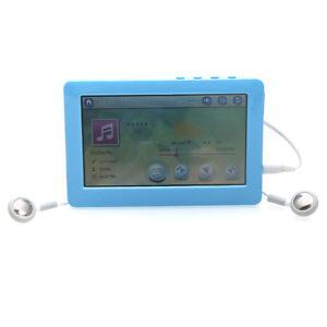 16GB-4-3-034-LCD-Touch-Screen-MP4-MP5-Player-FM-Radio-Recorder-USB-TF-Slot-Blue