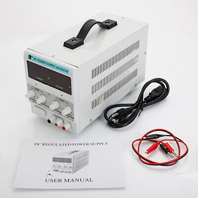 Qw-ms3010d 30v 10a Adjustable Dc Stabilizer Power Supply Us Standard Bs White