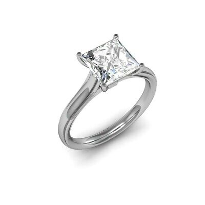 2.00 Ct F,VS2 GIA Princess Cut Diamond Engagement Ring Solitaire wedding ring