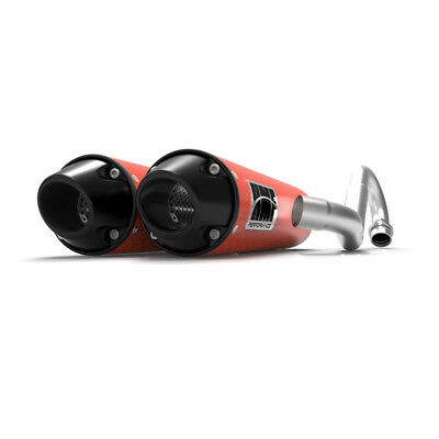 HMF Can-Am Renegade 1000 2012 - 2018 Can-Am Red/Blk Euro Dual Full Exhaust