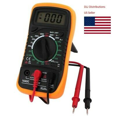 Xl830l Yellow Acdc Volt Meter Ammeter Ohmmeter Multi Tester Lcd Digital