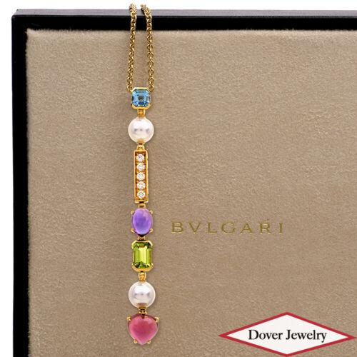 Bvlgari Bulgari Allegra Diamond Pearl 18K Gold Long Drop Necklace $12,590.00 NR