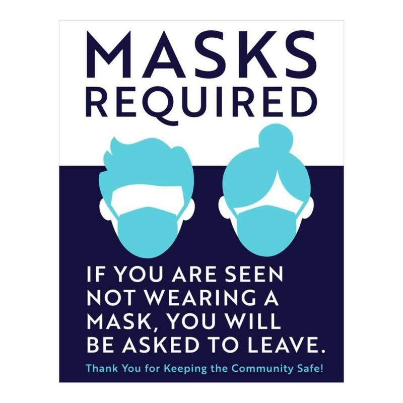 """Masks Required Sign - 11"""" X 14"""""""