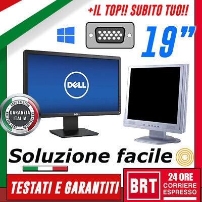 """M01_PC MONITOR SCHERMO LCD 19"""" POLLICI (DELL,HP,LG) VGA DVI DISPLAY DESKTOP"""