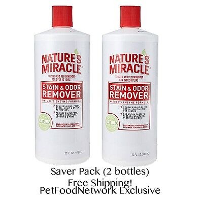 Nature's Miracle Dog  Stain And Odor Remover (32OZ.) (2 pack) Total 64oz
