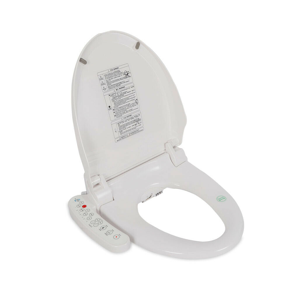 Electric Bidet Warm Toilet Seat 2 Nozzles For Elongated