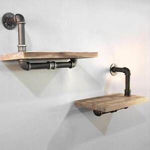 Rustic Industrial DIY Floating Pipe Shelf North Melbourne Melbourne City Preview