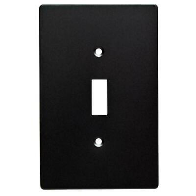 - Hampton Bay Subway Tile Decorative Single toggle Switch Plate cover, Flat Black