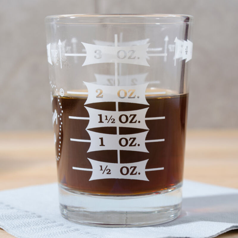PROFESSIONAL ESPRESSO MEASURING GLASS LIBBEY 5134/1124N  FREE SHIPPING US ONLY