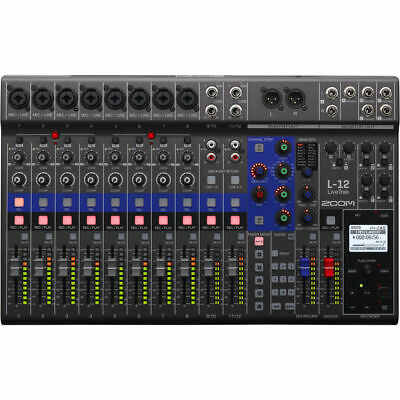 New Zoom LiveTrak L-12 Digital Mixer Best Offer! Authorized Dealer Free (Best Powered Monitors)