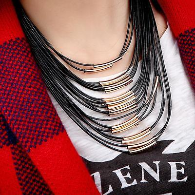 Party Bib - Choker Strand Collar Bib Coil Necklace Multi Layer Boho Women Party Jewelry P2E6