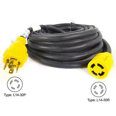 Superior Electric Rva1556 Generator Extension Cord 30 Amp 4 Pole Sjtw 10awg4
