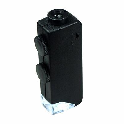 60X - 100X Zoom LED Lighted Mini Microscope / Jewelers Loupe Magnifying Glass 100 X Zoom Mini