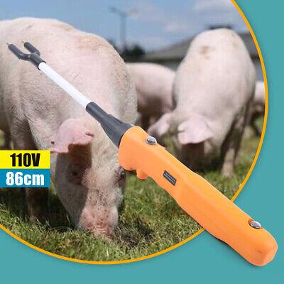 Pro Electric Rechargeable Livestock Pig Prod Stock Prodder W Led Light 86cm