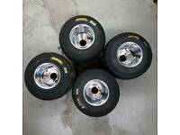 Wanted! 2 used rear go kart rims and tyres .