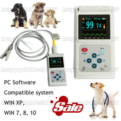 Handheld Veterinary Pulse Oximeter Cms60d-vet With Tongue Spo2 Probe Software