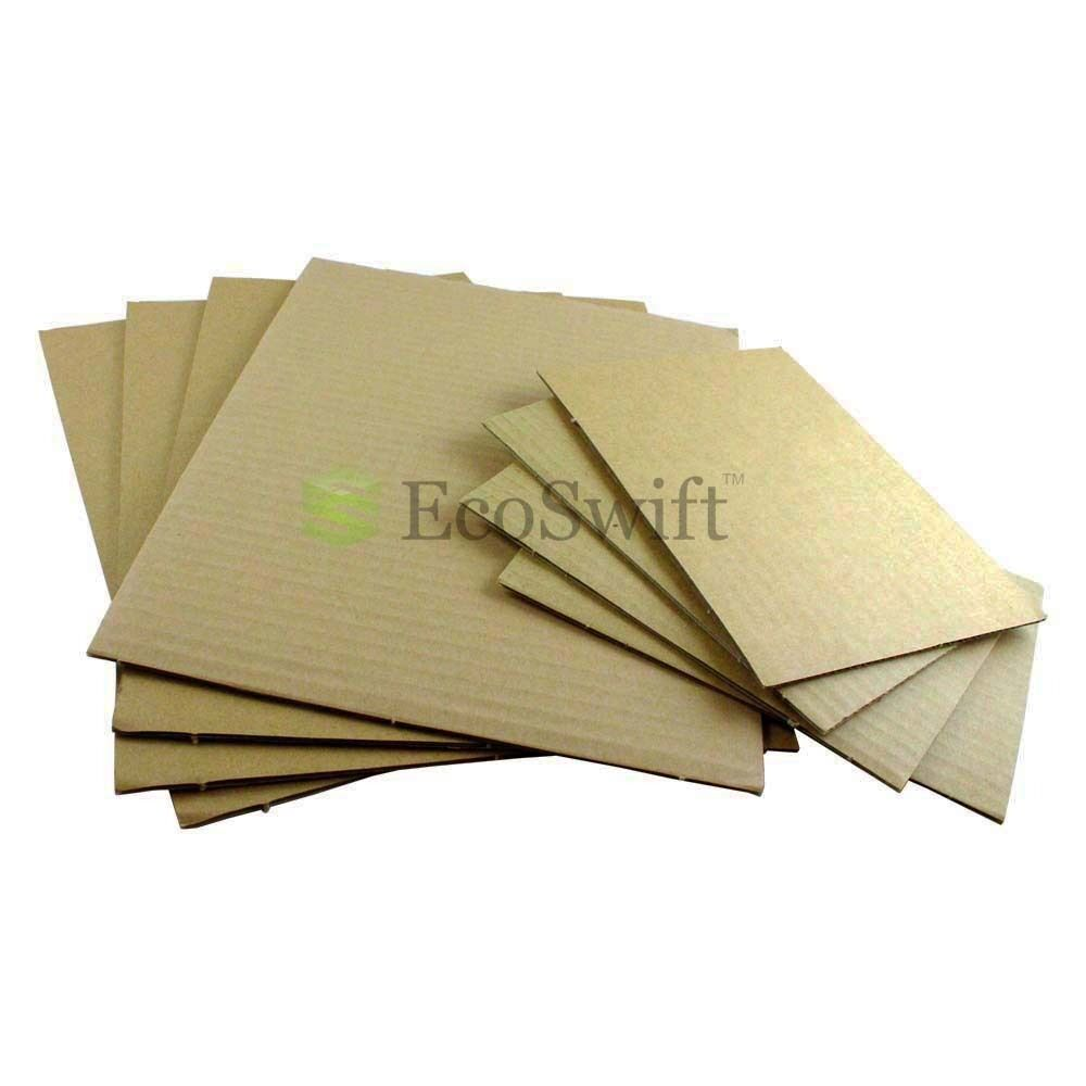 200 12x12 Corrugated Cardboard Pads Inserts Sheet 32 ECT 18 Thick 12 x 12