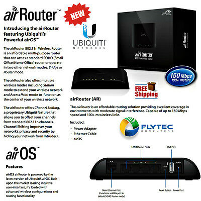 Ubiquiti AirRouter 802.11g/n SOHO Wireless Router 4 port USB 150Mbps 100+m AirOS