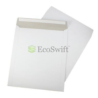 5 - 12.75 X 15 Self Seal White Photo Shipping Flats Cardboard Envelope Mailers