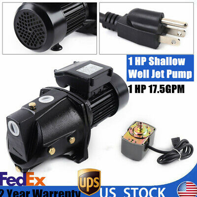 1 Hp Shallow Well Jet Pump W Pressure Switch Heavy Duty Water Jet Pump 110v