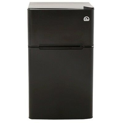Igloo 3.2 Cu Ft 2-Door Mini Refrigerator in Black with a Freezer - FR832