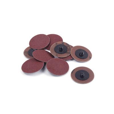 50pcs 3 Inch 24 - 320 Grit Roloc Type R Sanding Discs Roll Lock Abrasive Tool