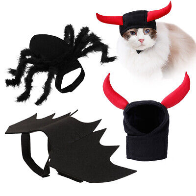 Dog Spider Bat Costume Outfit Halloween Suit Horm Small Cats Puppy Scary Prank