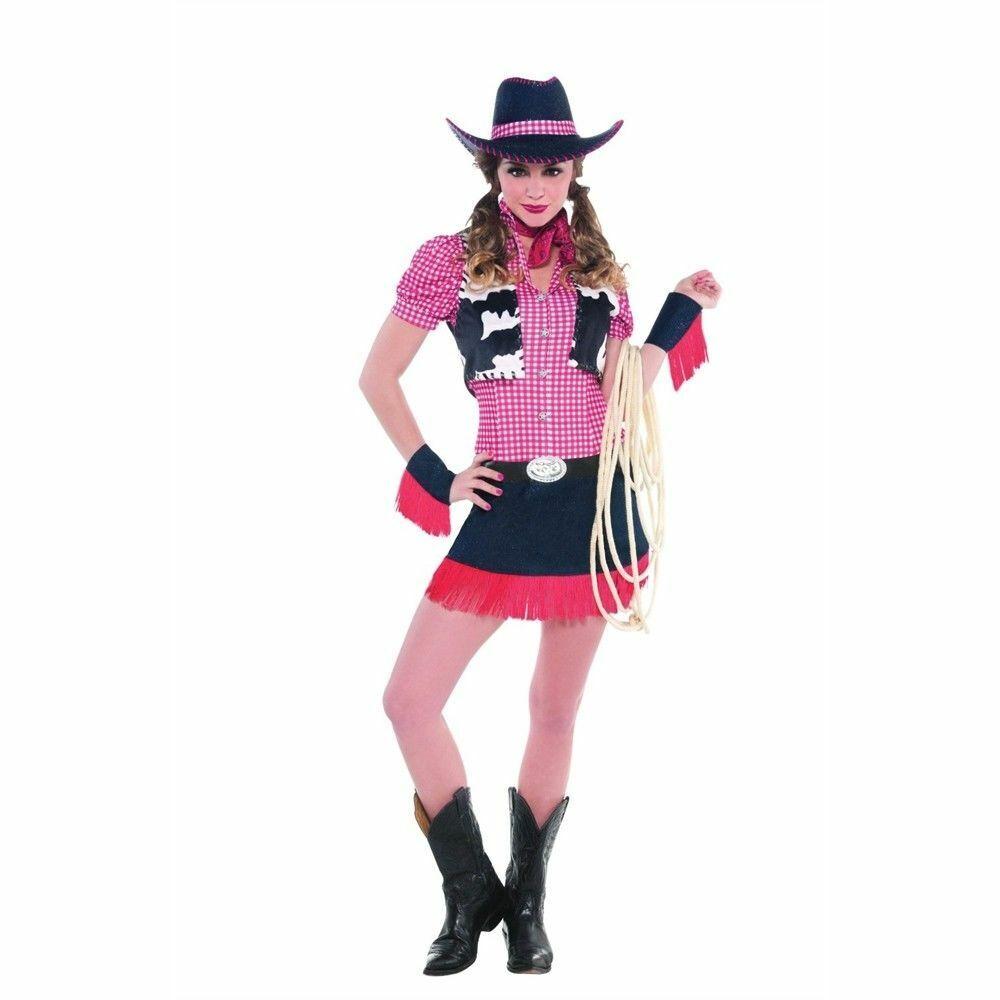 Amscan Rawhide Cowgirl Ladies Fancy Dress Costume
