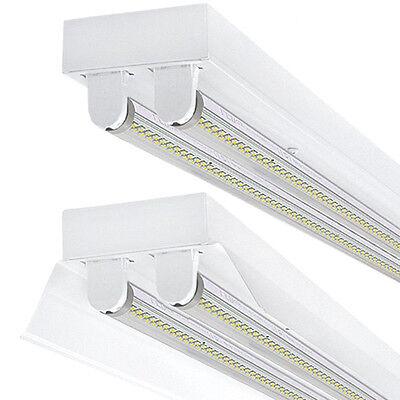 LED SET Plafoniere con/senza 2 X T8 18W 120cm Lampada ufficio riflettore