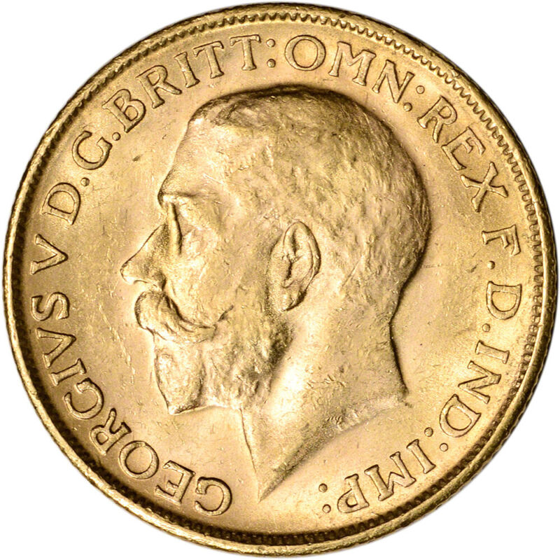 Australia Gold Melbourne M Sovereign .2354 oz - George V - BU - Random Date